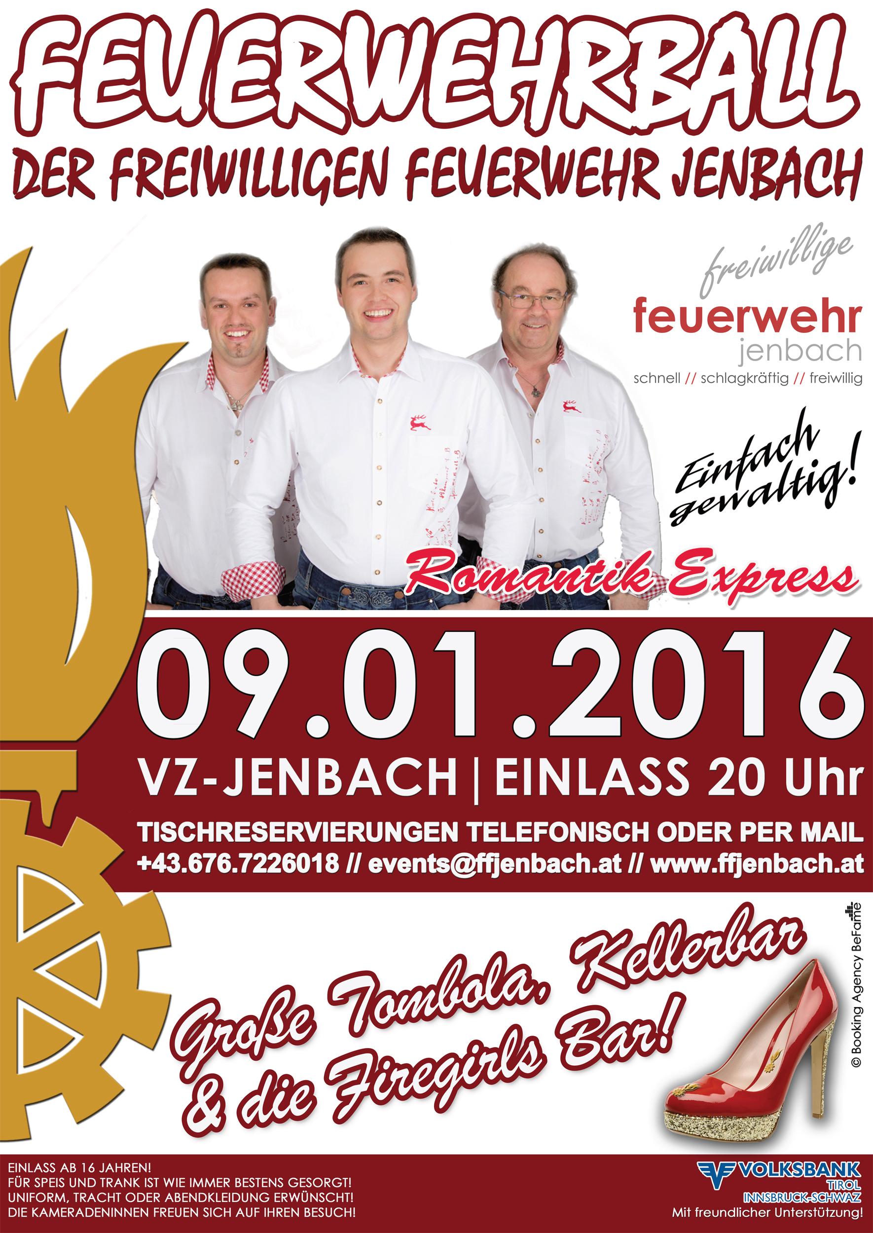 09.01.2016 // Feuerwehrball Jenbach